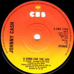A Song For The Life (CBS 7153)