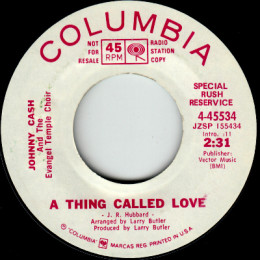 A Thing Called Love (Columbia 4-45534) SRR