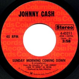 Sunday Morning Coming Down (Columbia 4-45211) variant 2