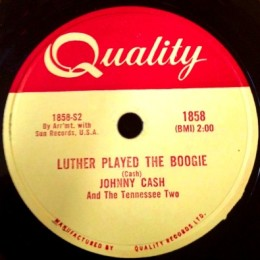 Luther Played The Boogie (Quality 1858) 78rpm