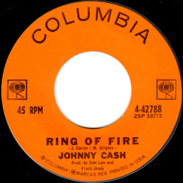 Ring Of Fire (Columbia  4-42788) variant 1