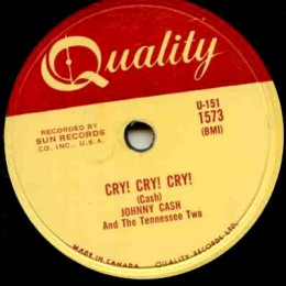 Cry, Cry, Cry (Quality K 1573) 78 rpm