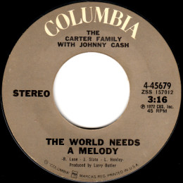 The World Needs A Melody (Columbia 4-45679)
