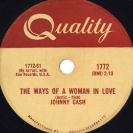 The Ways Of A Woman In Love 78rpm