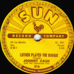 78 rpm Luther Played The boogie (Sun 316)