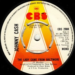 The Lady Came From Baltimore (CBS 2900) mono promo