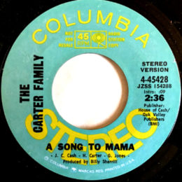 A Song To Mama (Columbia 4-45428) stereo promo