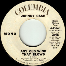 Any Old Wind That Blows (Columbia 4-45740) promo