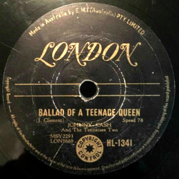 Ballad Of A Teenage Queen 78 rpm