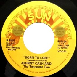 Born To Lose (Sun International 54) variant label 1