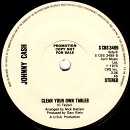 Clean Your Own Tables (CBS 3499) promo