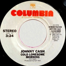 Cold Lonesome Morning (Columbia 1-11340) promo