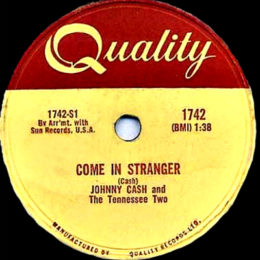 Come In Stranger (Quality 1742) 78rpm