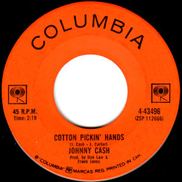 Cotton Pickin' Hands  (Columbia 4-43496)