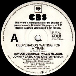 Desperados Waiting For A Train (CBS BA 3355) promo