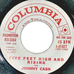 Five Feet High And Rising (Columbia 4-41427) promo variant 2