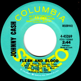 Flesh And Blood (Columbia 4-45269) promo variant 2