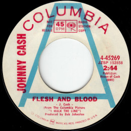 Flesh And Blood (Columbia 4-45269) promo variant 1