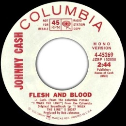 Flesh And Blood (Columbia 4-45269)mono promo variant 4