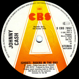 (Ghost) Riders In The Sky (S CBS 7852) promo