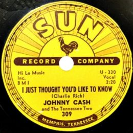 I Just Thought You'd Like To Know (Sun 309) 78rpm -variant 1