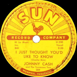 I Just Thought You'd Like To Know )Sun 309) 78rpm - variant 2