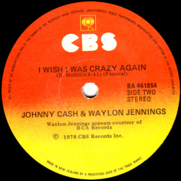 I Wish I Was Crazy Again (CBS BA 461854)