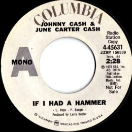 If I Had A Hammer (Columbia 4-45631) promo