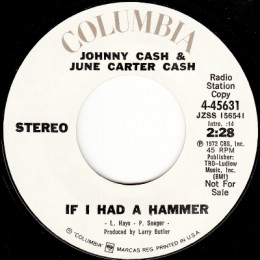 If I Had A Hammer (Columbia 4-45631) stereo promo