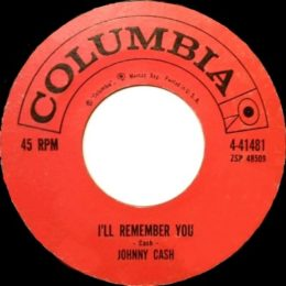 I'll Remember You (Columbia 4-41481) variant 3
