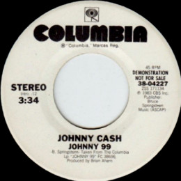Johnny 99 (Columbia 38-04227) promo