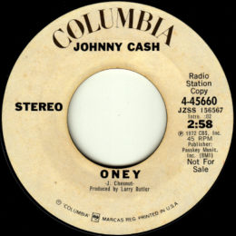 Oney (Columbia 4-45660) promo stereo