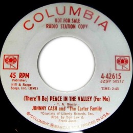 Peace In The Valley (Columbia 4-42615) promo