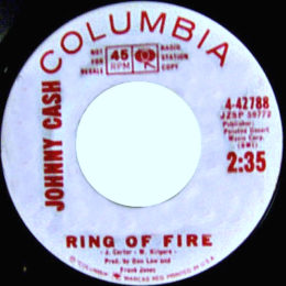 Ring Of Fire (Columbia 4-42788) promo