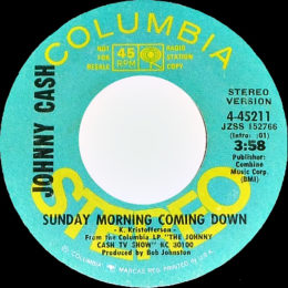 Sunday Morning Coming Down - stereo promo.variant 3