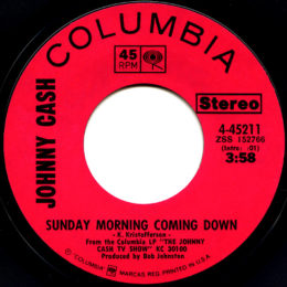Sunday Morning Coming Down (Columbia 4-45211) variant 3