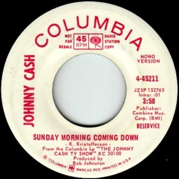 Sunday Morning Coming Down - mono promo.variant 2