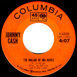 The Ballad Of Ira Hayes (Columbia 4-43058)