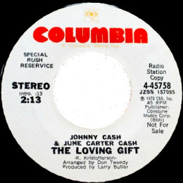 The Loving Gift (Columbia 4-45758) stereo promo