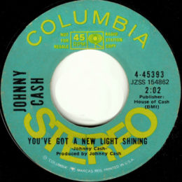 There'a A New Light Shining (Columbia 4-45393) promo variant 2