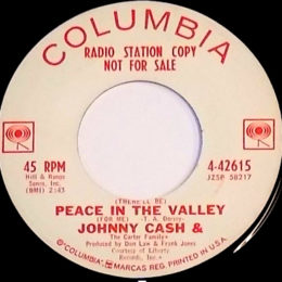 (There'll Be) Peace In The Valley (Columbia 4-42615) promo