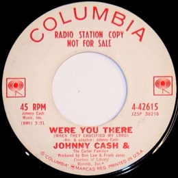 Were You There (When They Crucified My Lord (Columbia 4-42615) promo