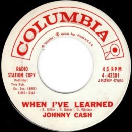 When I've Learned (Columbia 4-42301) promo