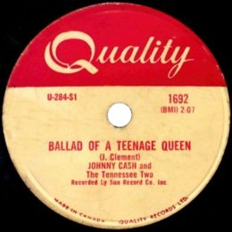 Ballad Of A Teenage Queen (Quality 1692) 78rpm