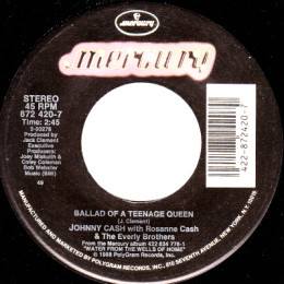 Ballad Of A Teenage Queen (Mercury 872 420-7)