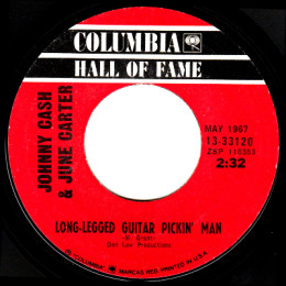 Long-Legged Guitar Pickin' Man  (Columbia HOF 13-33120)