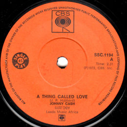 A Thing Called Love (CBS SSC-1194) South Africa
