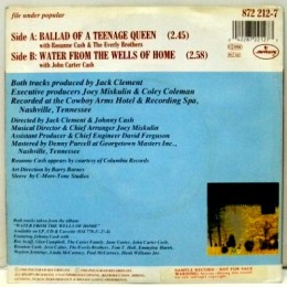 Ballad Of A Teenage Queen (Mercury) back sleeve