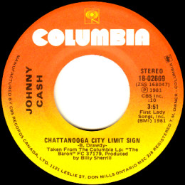 Chattanooga City Limit Sign (Columbia 18-02669)