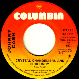 Crystal Chandeliers And Burgendy (Columbia 3-10011)